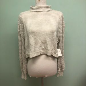 Free People | Women's Cropped Turtleneck Sweater